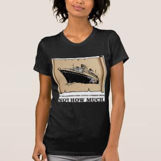 Camiseta espaço em um barco yeah