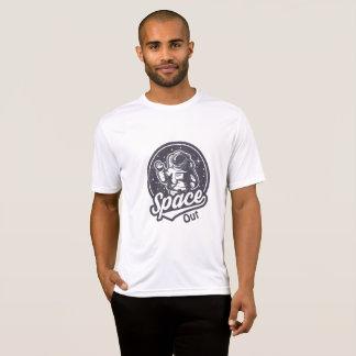 Camiseta Espaço para fora! O gráfico T dos homens