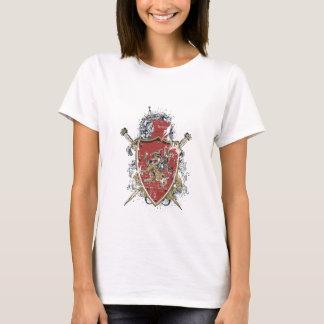 Camiseta espadas e design vermelho