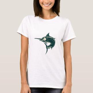 Camiseta Espadim azul atlântico Scraperboard