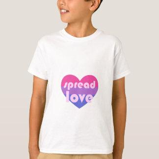 Camiseta Espalhe o amor bissexual