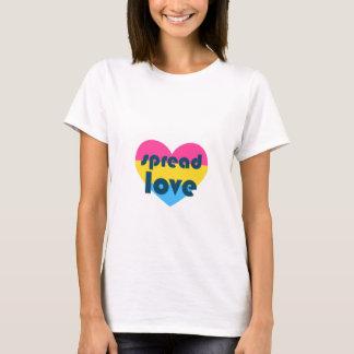 Camiseta Espalhe o amor Pansexual