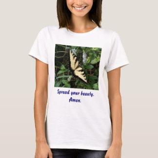 Camiseta Espalhe seu t-shirt da beleza