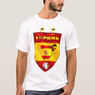 Camiseta Espanha 1964 2008 protetores do emblema do futebol 66a609db58fb1