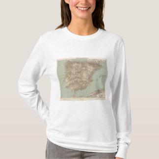 Camiseta Espanha e mapa do atlas de Portugal