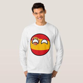 Camiseta Espanha Geeky de tensão engraçada Countryball