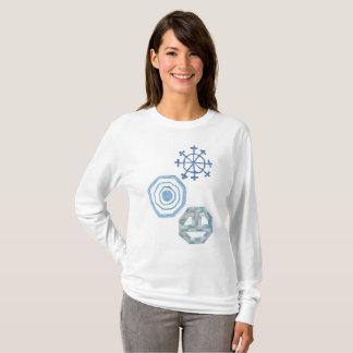 Camiseta Especial floco de neve a ligação em ponte de