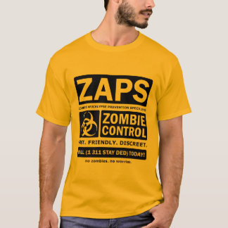 Camiseta Especialista da prevenção do apocalipse do zombi
