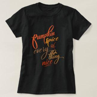 Camiseta Especiaria e tudo da abóbora agradáveis