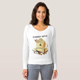 Camiseta Especiaria & tudo da abóbora parte superior