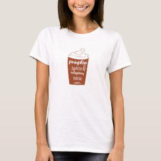 Camiseta Especiaria & tudo da abóbora t-shirt agradável
