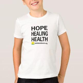 Camiseta Esperança, curando, t-shirt da criança da saúde