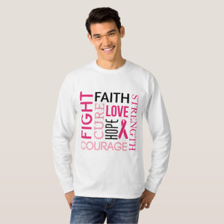 Camiseta ESPERANÇA do AMOR da FÉ do Tshirt da luta do