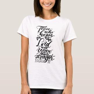 Camiseta Esperança no senhor Escovadela Roteiro
