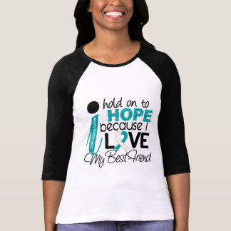 Camiseta Esperança para meu cancro do colo do útero do