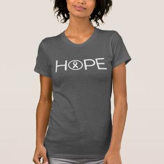 Camiseta Esperança para o câncer pulmonar