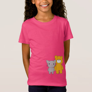 Camiseta Esperando o Illuminati: Gato e urso