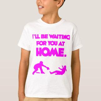 Camiseta Esperando o, rosa quente