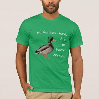 Camiseta Esperanto: Osso dos fartas do MI, MI ĉar Havas