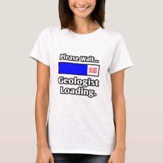 Camiseta Espere por favor… a carga do geólogo