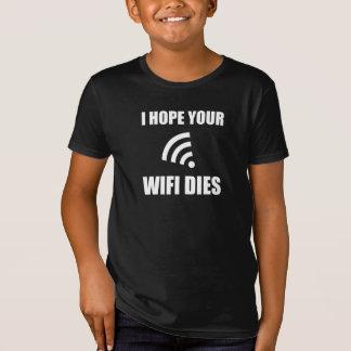 Camiseta Espere seus dados de Wifi