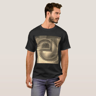 Camiseta Espirais no sepia