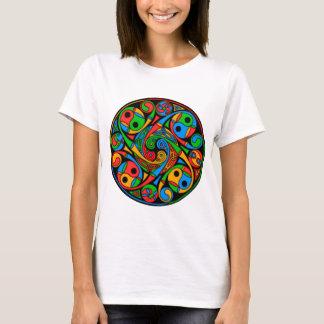 Camiseta Espiral celta do vitral