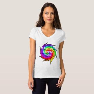 Camiseta Espiral do arco-íris eu sou seu t-shirt do