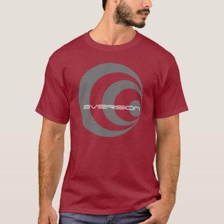 Camiseta espiral para fora