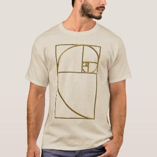 Camiseta Espiral sagrado de Fibonacci da relação dourada