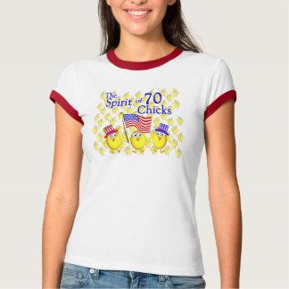 Camiseta Espírito de 70 pintinhos