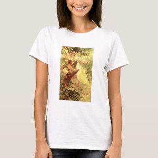 Camiseta Espírito de Alphonse Mucha do t-shirt do primavera