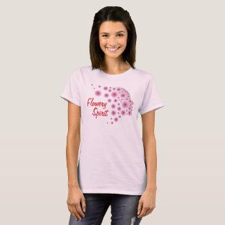 Camiseta Espírito florido