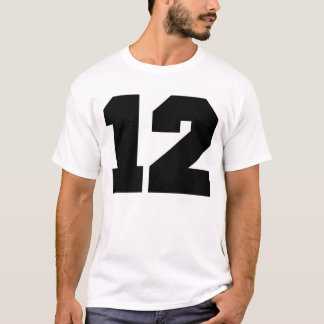 Camiseta Esporte do número 12