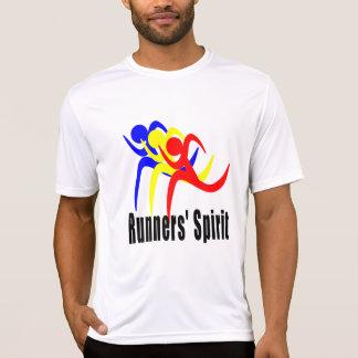 Camiseta Esporte-Tek dos SS do espírito dos corredores