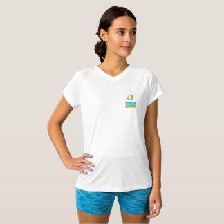 Camiseta Esporte V do bem-estar de JG - T do pescoço