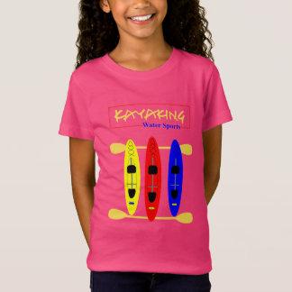 Camiseta Esportes de água Kayaking - gráfico temático