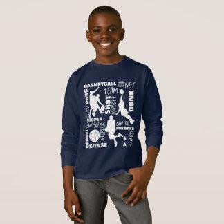 Camiseta Esportes do basquetebol - tipografia temático da
