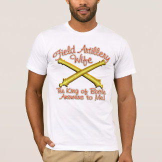 Camiseta Esposa da artilharia de exército de campanha