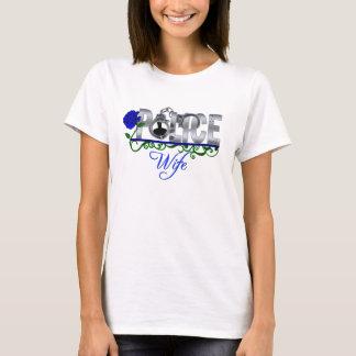 Camiseta ESPOSA da POLÍCIA do rosa do azul