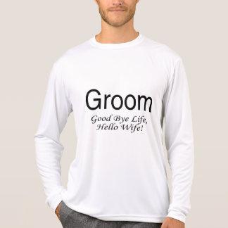 Camiseta Esposa da vida do noivo adeus olá!