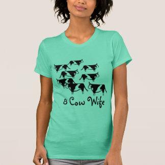 Camiseta Esposa de 8 vacas, lds, mormon, CTR, camisa,