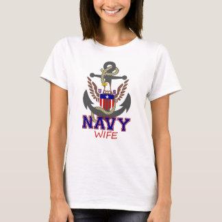 Camiseta Esposa do marinho dos E.U.