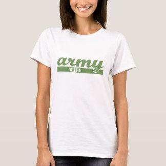 Camiseta Esposa escolar do exército