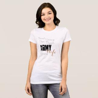 Camiseta Esposa forte do exército