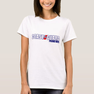 Camiseta Esposa orgulhosa da guarda costeira