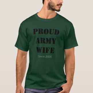 Camiseta Esposa orgulhosa do EXÉRCITO