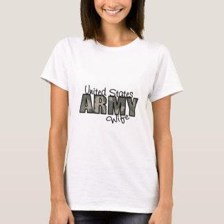 Camiseta Esposa orgulhosa do exército da ACU