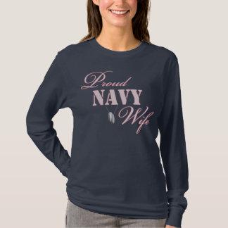 Camiseta Esposa orgulhosa do marinho