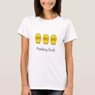 Camiseta Espreitando o t-shirt do pato